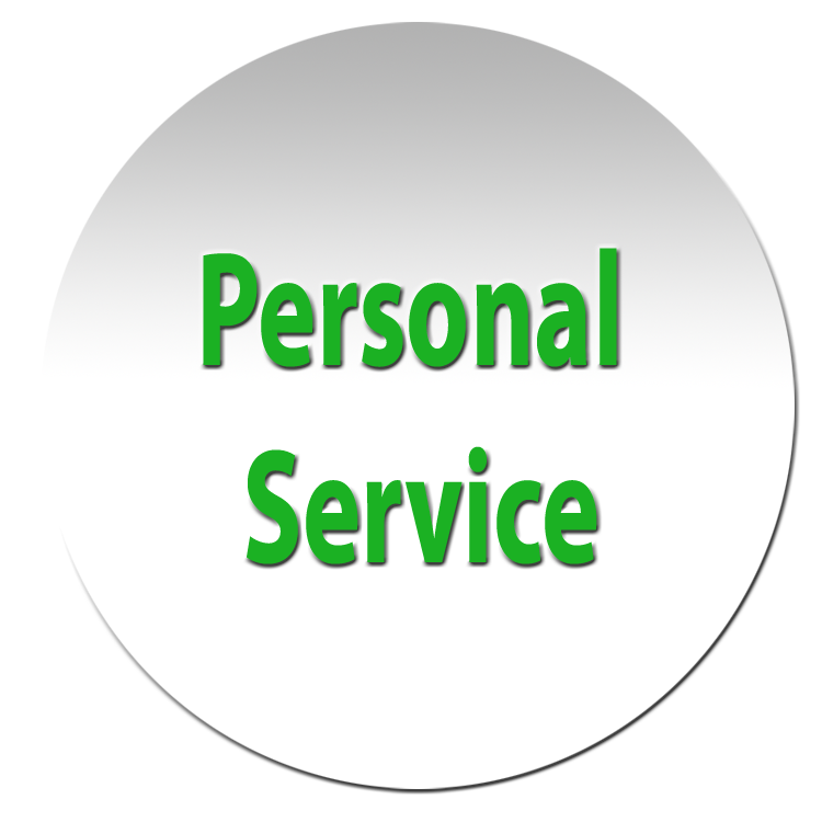 Personal service given with each rental.