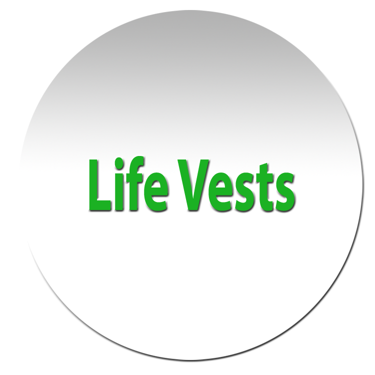 We provide Life Vest in various sizes for required PFD rules